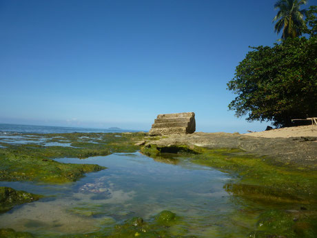 steps, beach, rincon, puerto rico