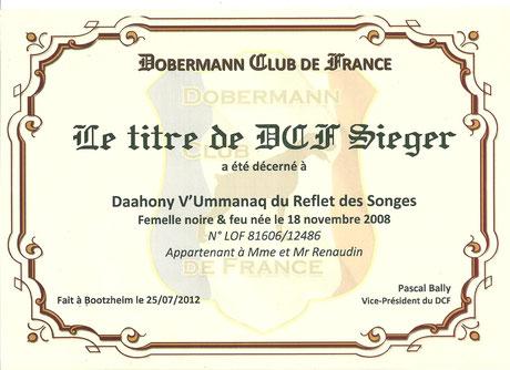 Titre DCF Siererin - 2012