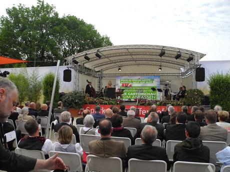 Eröfnung der Landesgartenschau Umweltministerin Ulrike Scharf