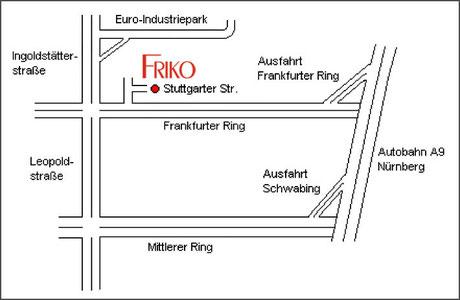 Friko - München - Stuttgarterstr. 12 - Anfahrt zum Bordell