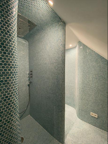 Badezimmer wo vorher keins war - individuell gestaltet