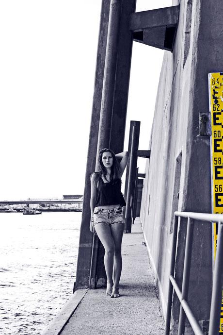 Mannheim Hafen Fotomodel Topmodel