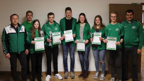 Gruppenfoto Sommerbiathlon Abteilung Wörnitz