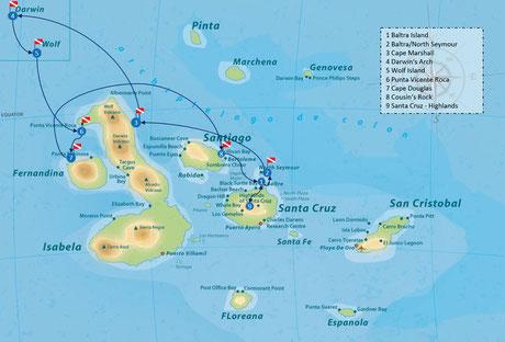Galapagos Shark Diving - Itinerary