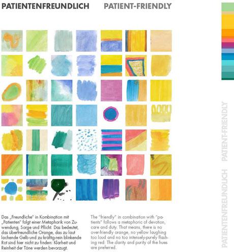 Farbproben Patientenfreundlich