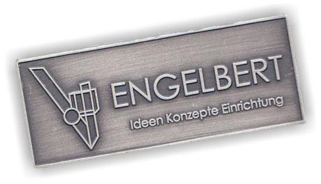 Engelbert Möbel-Metallschild