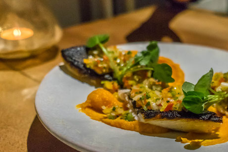 Sea-bass and sweet potatoe mash is just one out of the many flavourful combinations from Nikkei Cuisine.