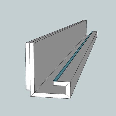 Lichtvoute Bella Easy mit Schattenfuge zur indirekten Beleuchtung von Decken