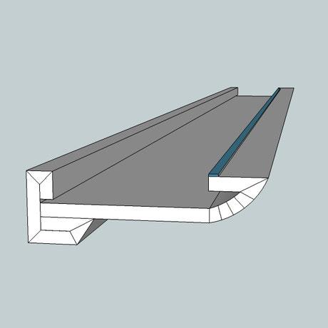 Lichtvoute Steckbausatz zur Ausleuchtung der Decke mit indirektem Licht