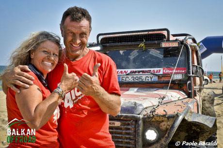 Franck Daurelle e Francoise Hollende vincitori auto extreme