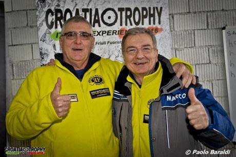Igor Božiković, a sinistra con Marco Sparpaglione