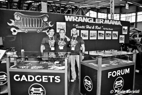 WranglerMania: Claudio Zanforlin, a destra, con i mitici Ale e Sanchez.