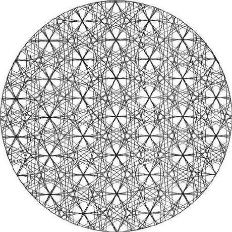 Fleur de vie en 3-D - Cliquer pour agrandir