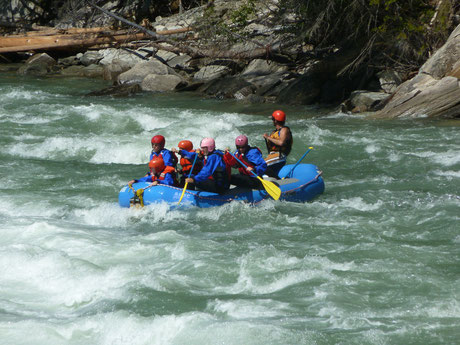 Rafting on the Fraser/ Reargard Falls