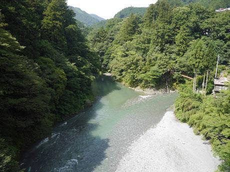 昭和橋より上流を見る
