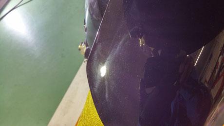 R1000Rのフェンダーの傷