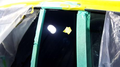 BMW640ⅰ Bピラーの傷除去 白ボケ改善 埼玉県三芳の車磨き専門店