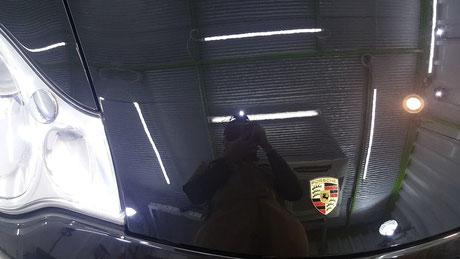 996ターボHPE ボンネットのオーロラ除去 所沢 三芳