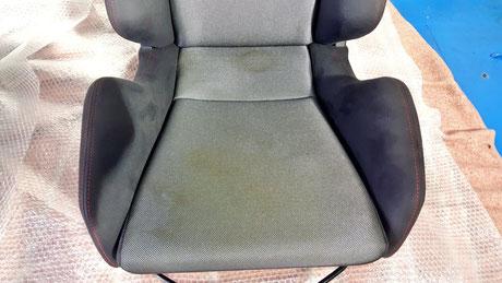 レカロシート座面の染み・黄ばみ汚れ