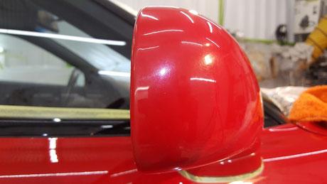 NSX ミラーの色褪せ ボディーカバーの擦り傷