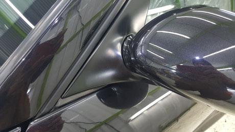 996ターボ ミラーベース 樹脂パーツのコーティング 埼玉三芳