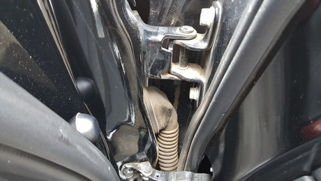 RX‐8のドア内の汚れ