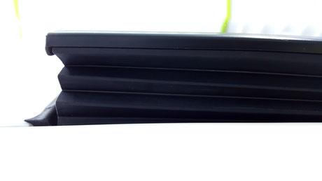 BMW640のサンルールの汚れ除去