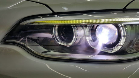 BMW2シリーズ ヘッドライトコーティング 埼玉の車磨き専門店