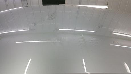 r35gt-r ルーフのクレーター除去 アルティメイトメタルシルバー 埼玉の車磨き専門店