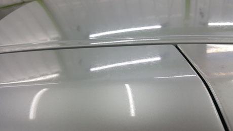r35gt-r Cピラーのクレーター・シミ