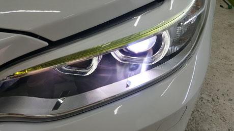 BMW2シリーズ ヘッドライトのクラック除去 埼玉の車磨き専門店・アートディテール