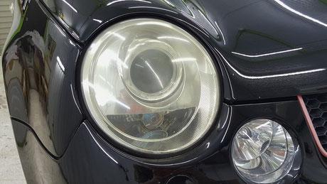 ルポGTIカップカー ヘッドライトの曇り・黄ばみ