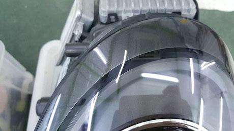 ポルシェ996 ヘッドライト磨き後