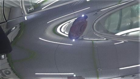 996ターボHPE リアフェンダーの艶改善 オーロラ除去 埼玉