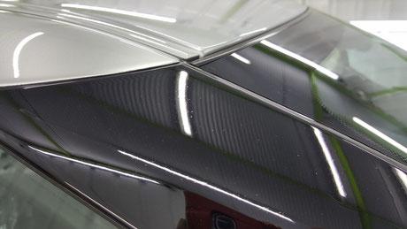 r35gt-r Aピラーのクレーター・シミ改善 埼玉の車磨き専門店