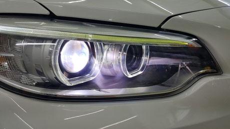 BMW2シリーズ ヘッドライトのひび・クラック除去 埼玉の車磨き専門店・アートディテール F22