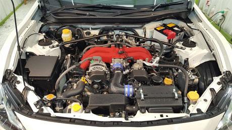 トヨタ786GRスポーツ エンジンルームのコーティング 埼玉三芳