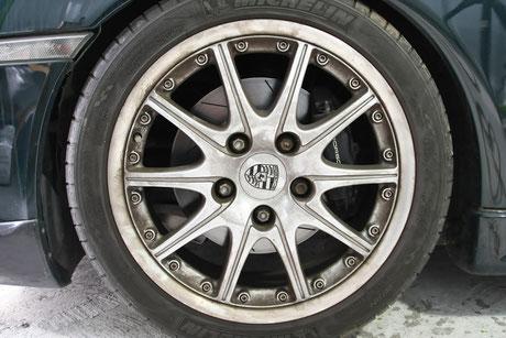 996GT3ブレーキダスト ホイールの汚れ