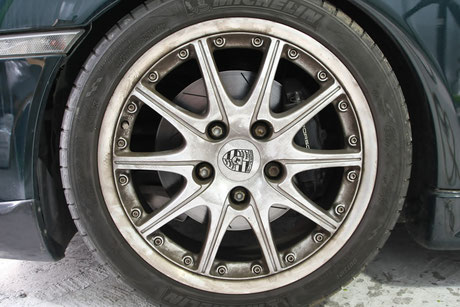 996GT3ブレーキダスト ホイールの汚れ ポルシェ911のホイールコーティング