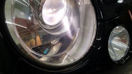 ルポGTIカップカー ヘッドライトの白ボケ改善 埼玉