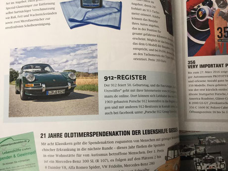 Porsche 912 Register Germany geht online