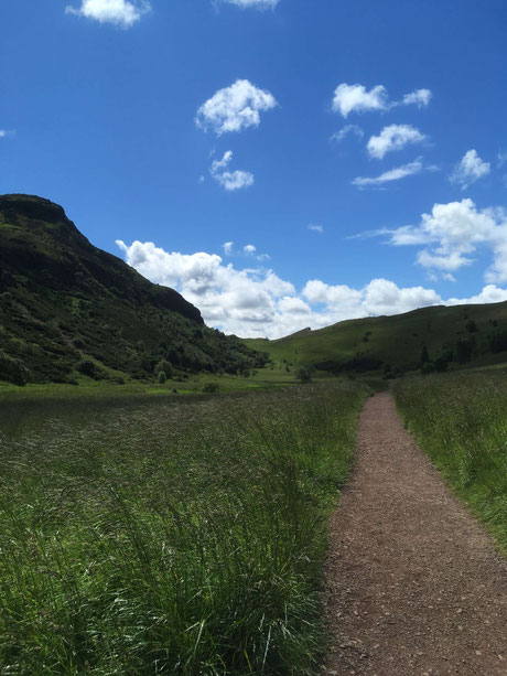 Arthur's Seat is quite steep...