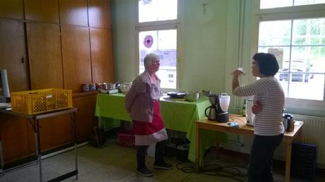 noch ein Blick in die Küche... vielen Dank an alle Helfer!!!