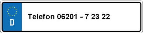 Rufen Sie uns an unter 06201-72322.