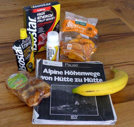 Die neue Wegzehrung von Isostar + Trockenfrüchte im Gepäck auf den wunderschönen Alpentrails von Walter Pause