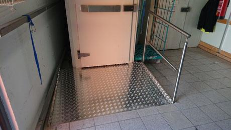 Rampe für Tiefkühllager