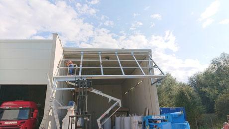 Vordach Unterkonstruktion