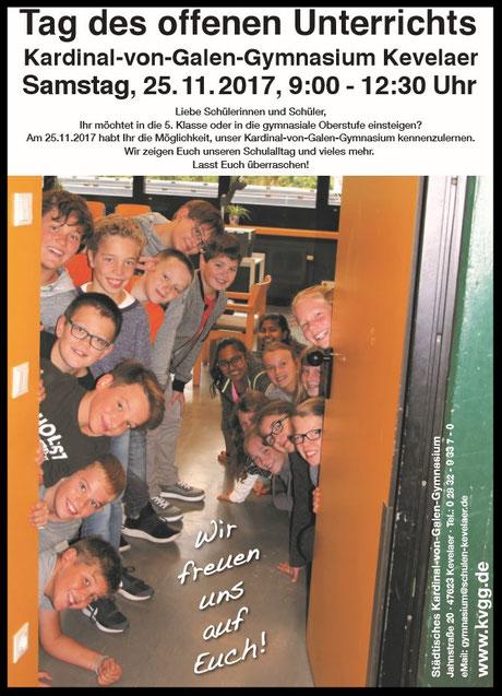 Plakat zum Tag es offenen Unterrichts