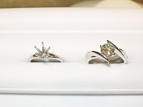 欲しかったデザインの指輪にチェンジ