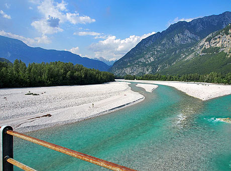 Von Venzone fahren wir ca. 100 km am Fluss bis nach Lignano